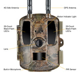 WildGuarder GuarderA 4G LTE Cellular No-Glow HD Video Trail Camera