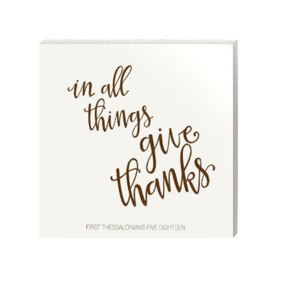 In All Things Give Thanks Canvas