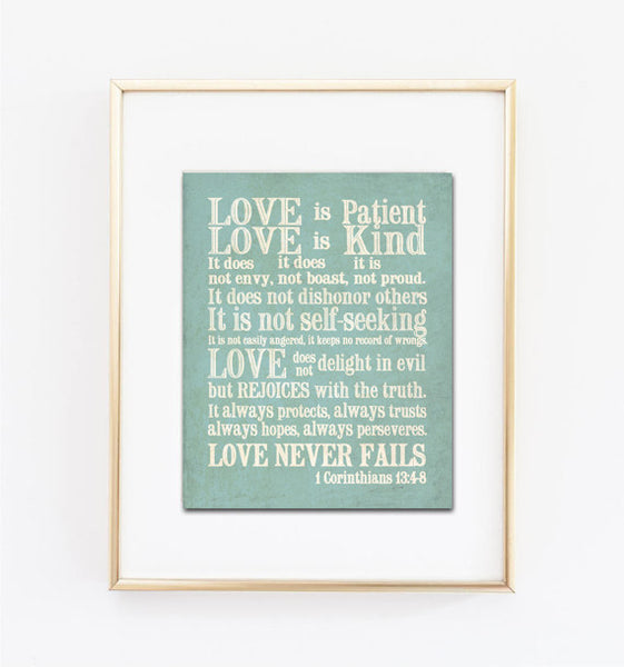 Love Is Patient, Love is Kind Print