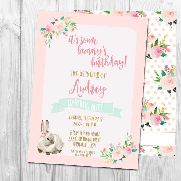 It's Some Bunny's Birthday Party Invitation