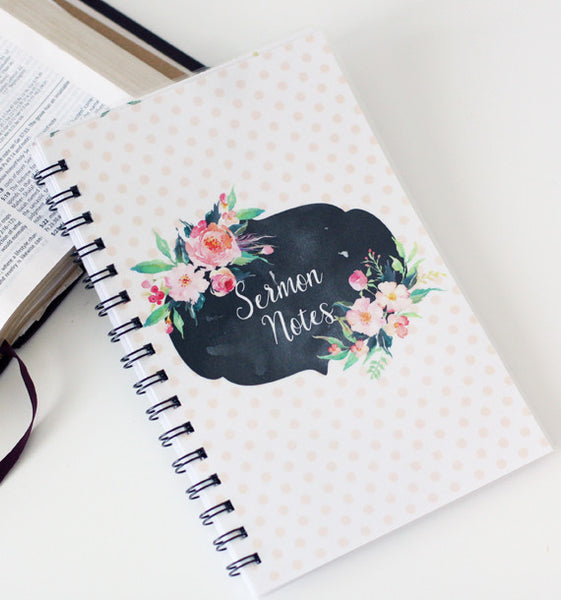 Watercolor Dot Sermon Notebook