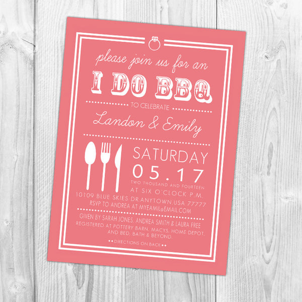 I Do BBQ Shower Invitation