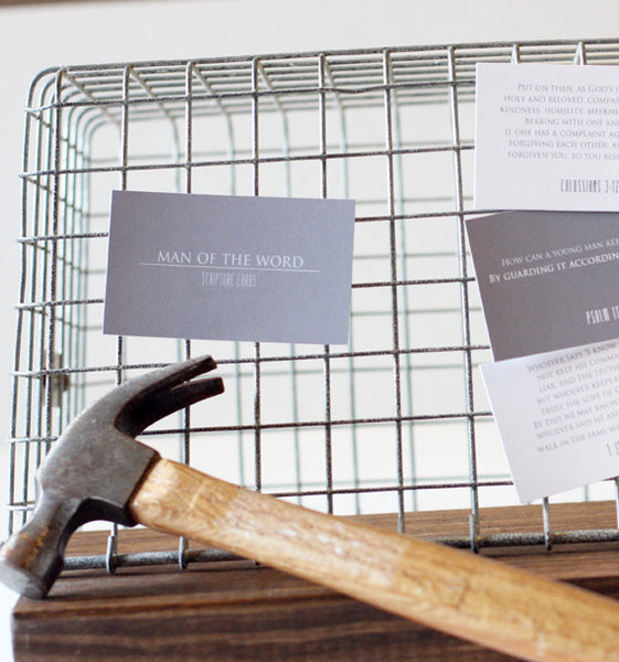Man of the Word Cards - Scripture Cards for Men