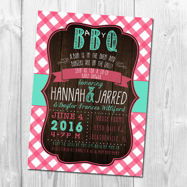 BBQ Baby Shower Invitation, Couples Shower