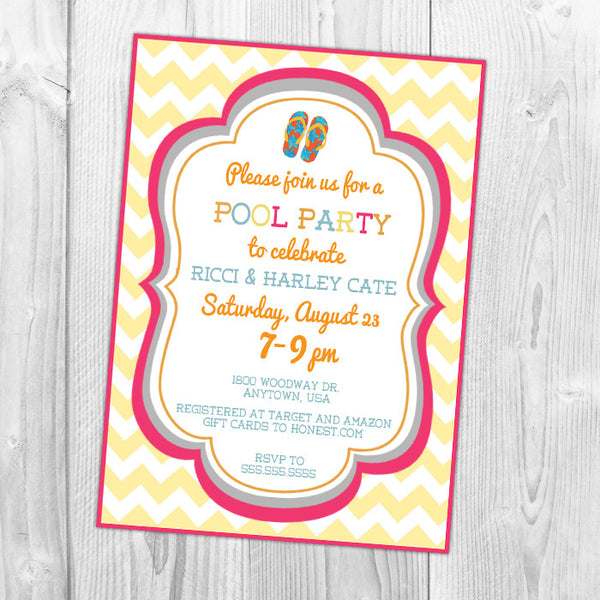 Pool Party Baby Shower Invitation