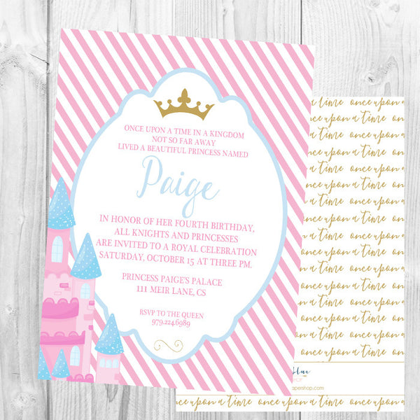Party Invitations Little Blue Paper Shop – Princess and Knight Party Invitations