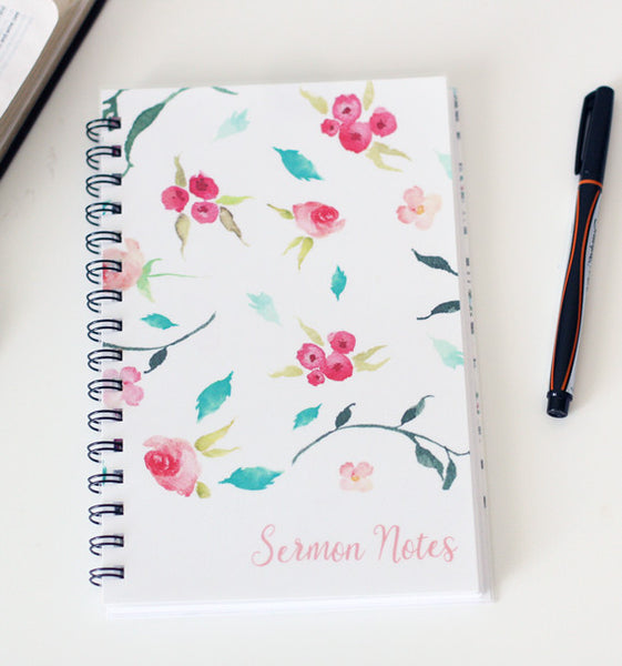 Simple Berry Sermon Notebook
