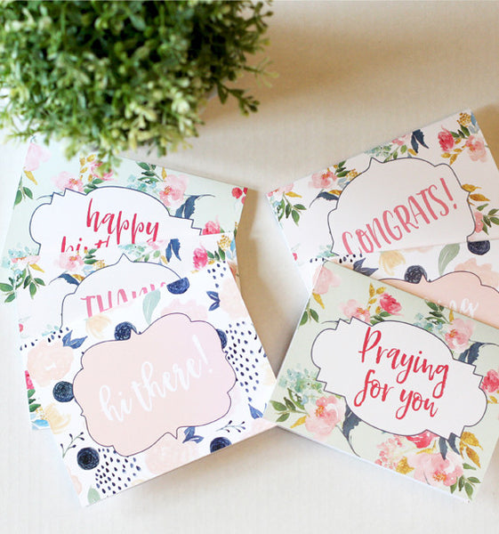 Spring Floral Stationery Set