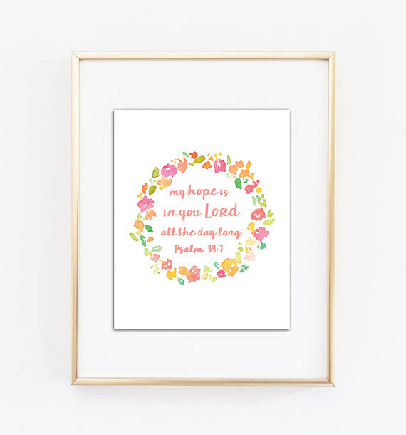 My Hope Is In You Lord Wreath Printable