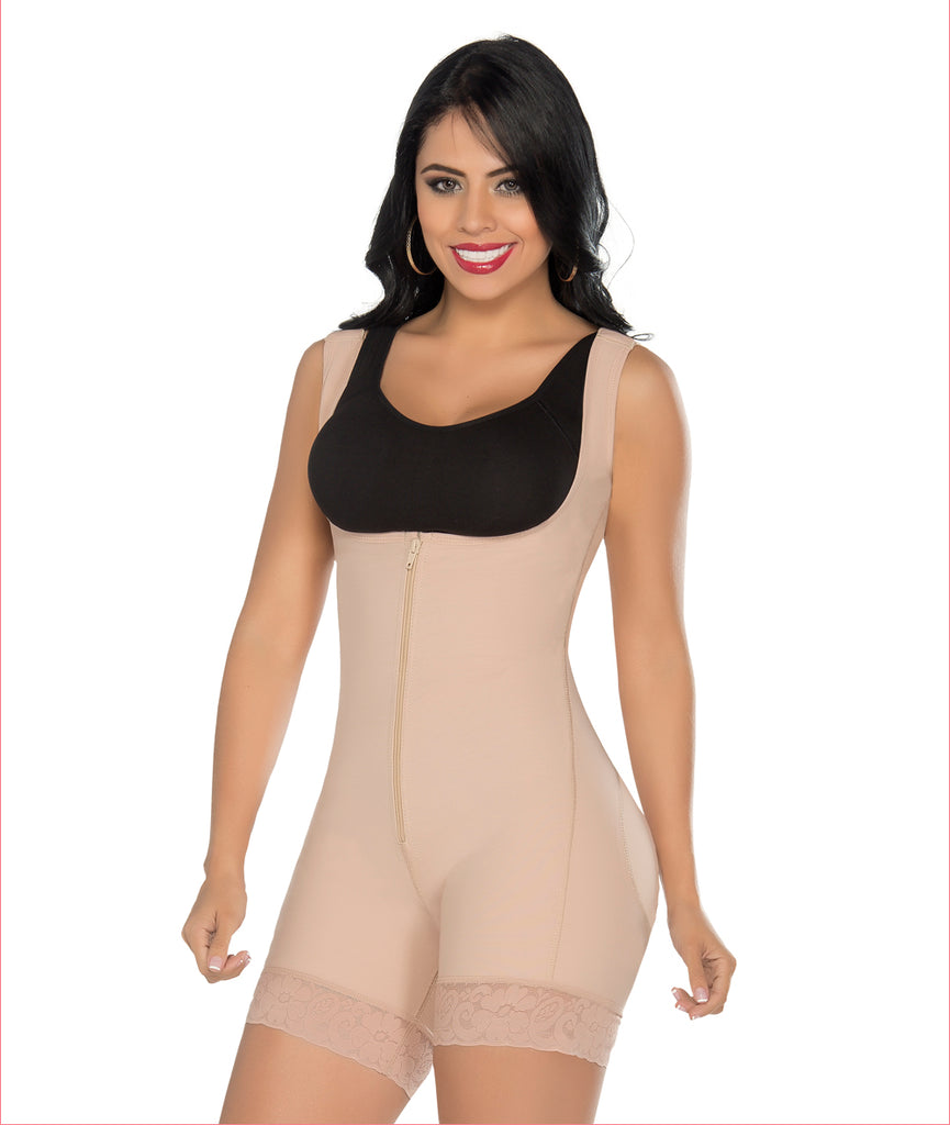 Powerflex one piece girdle high back continuous wide strap - C4169