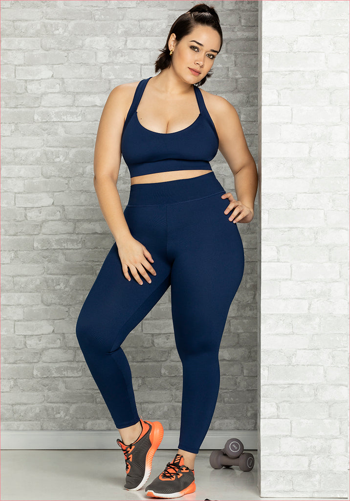 Women High Waist Sports Pants Blue - D6007BE