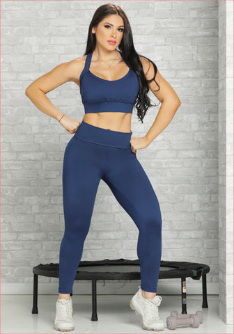 Sport pants plus waist trainer all in one - Capri style D6002