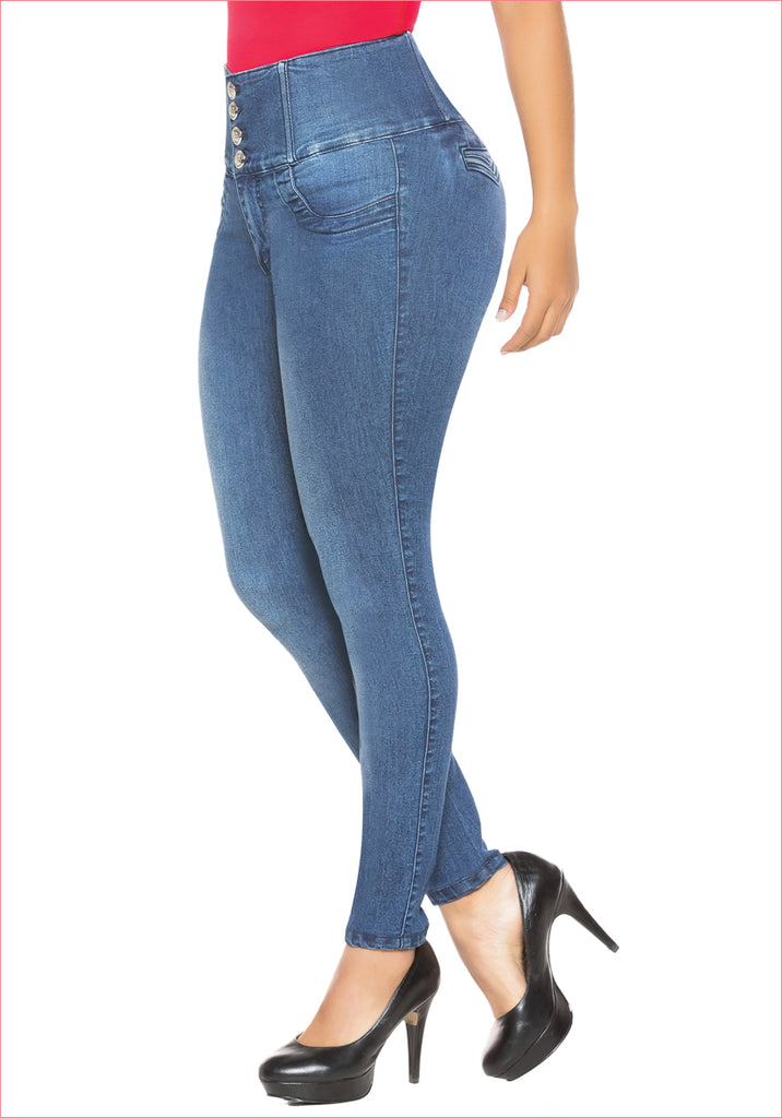 High wide waist skinny Jean for women - J8912