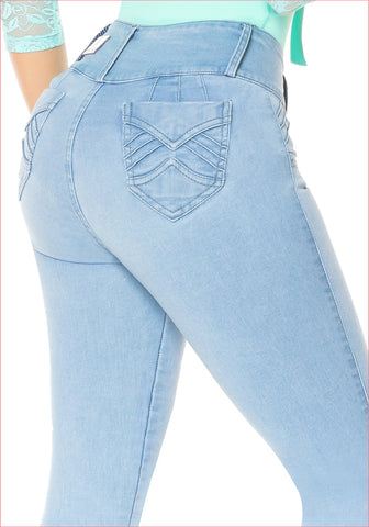 High wide waist skinny Jean for women - J8917