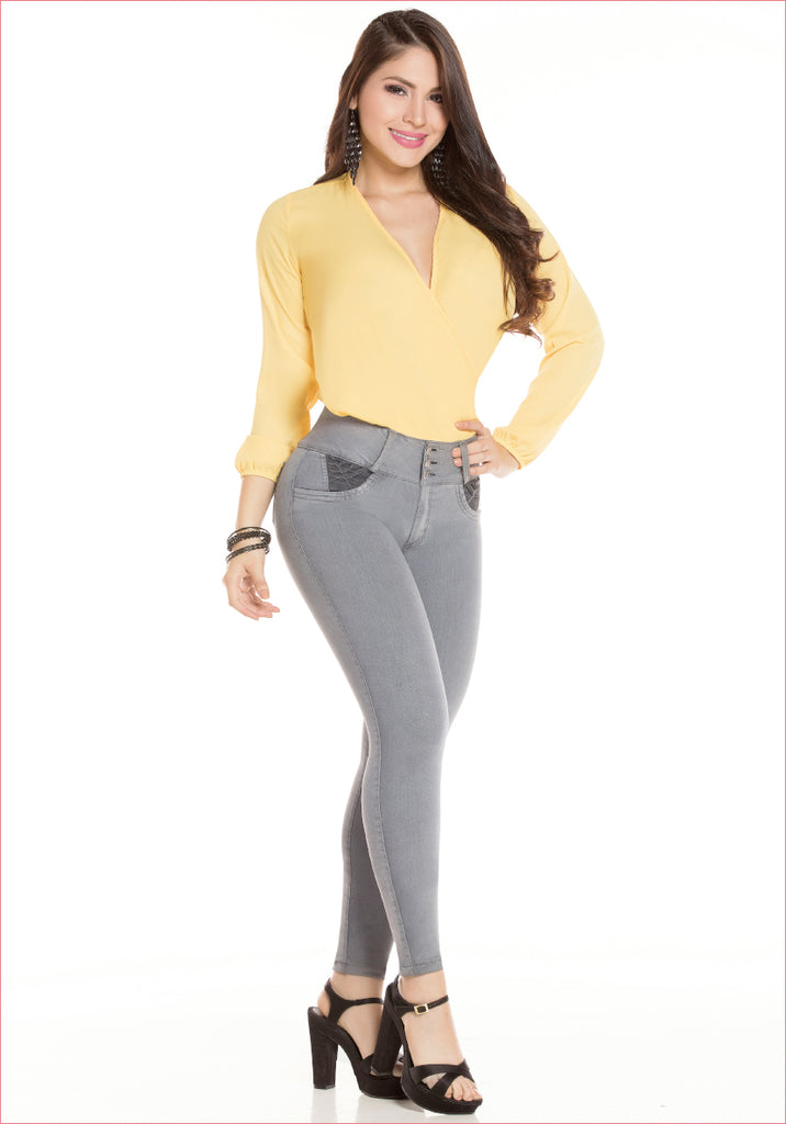 Skinny Gray Jean for women - J8946