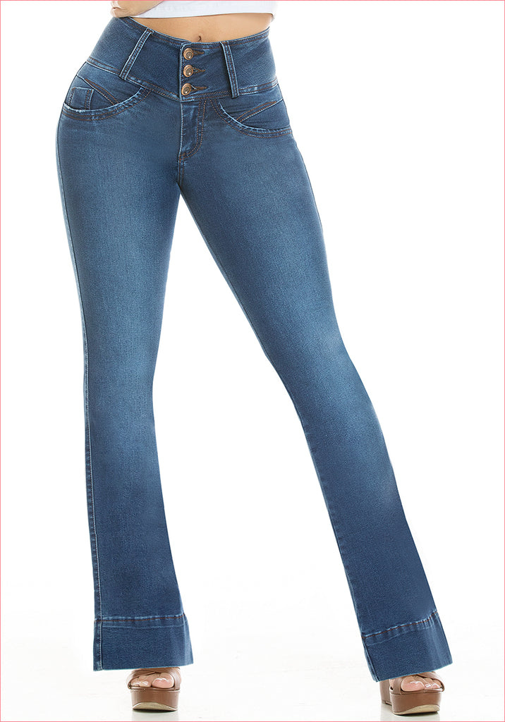 Bootcut Blue Jean for women - J8933SH