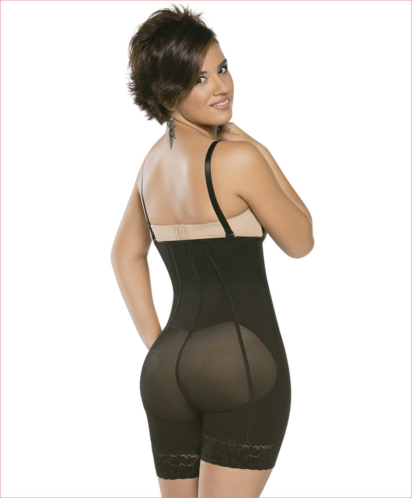 Firm compression girdle - Mid thigh Bodysuit - C4161