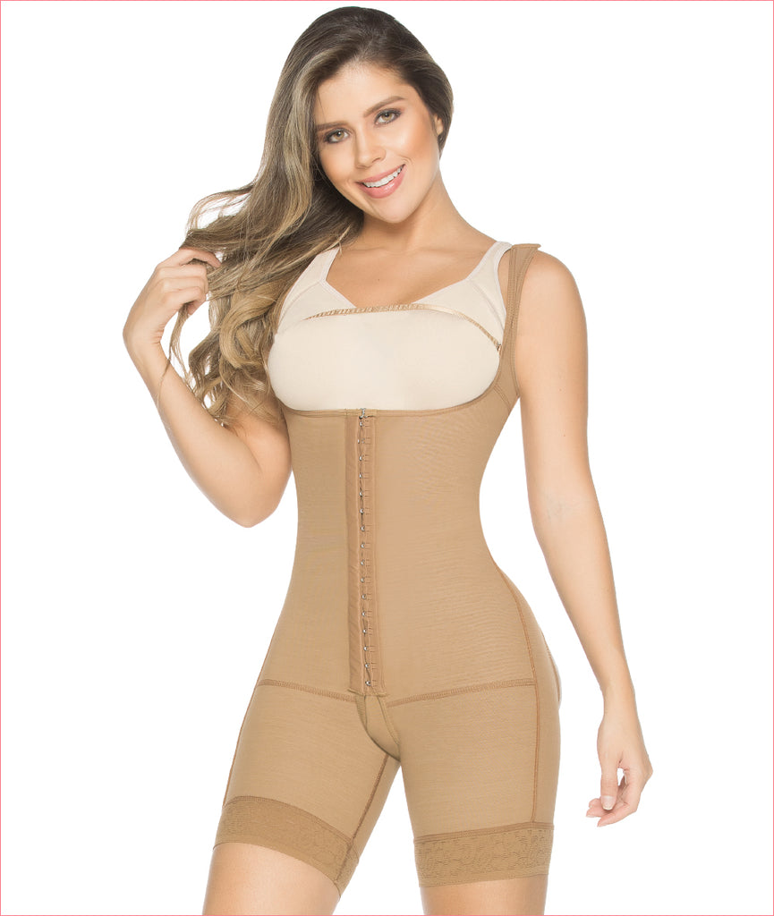 Post Op Compression Garment Buttocks Enhancer  Mid Thigh Length Bodysuit C9003