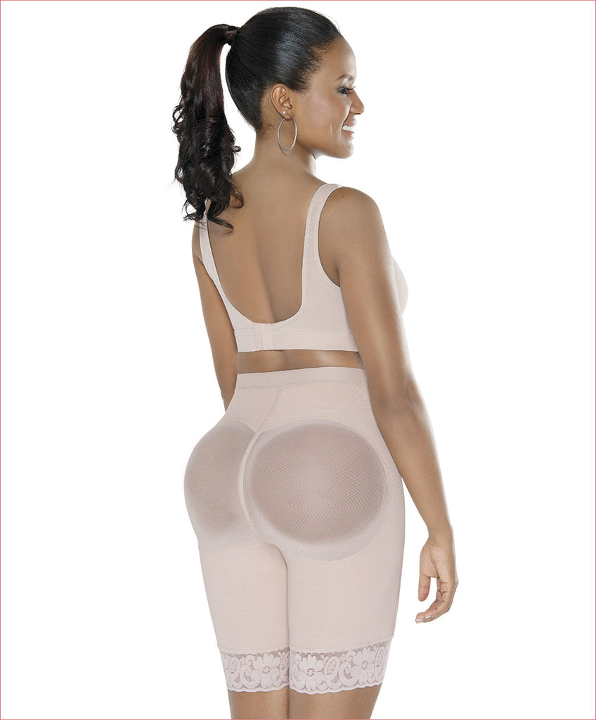 Booty boosting shapewear butt lifter mid thigh - C4141