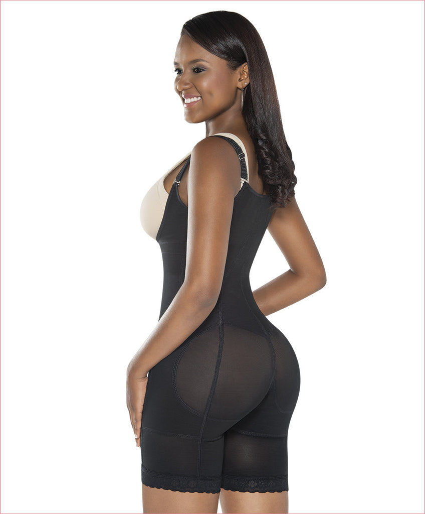 Firm compression girdle - Mid thigh Bodysuit - C4162