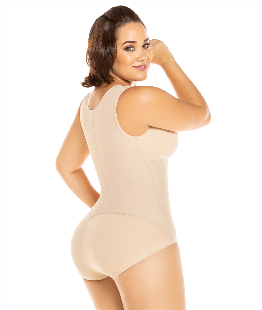 Firm compression girdle - Panty style with bra Bodysuit - C4191