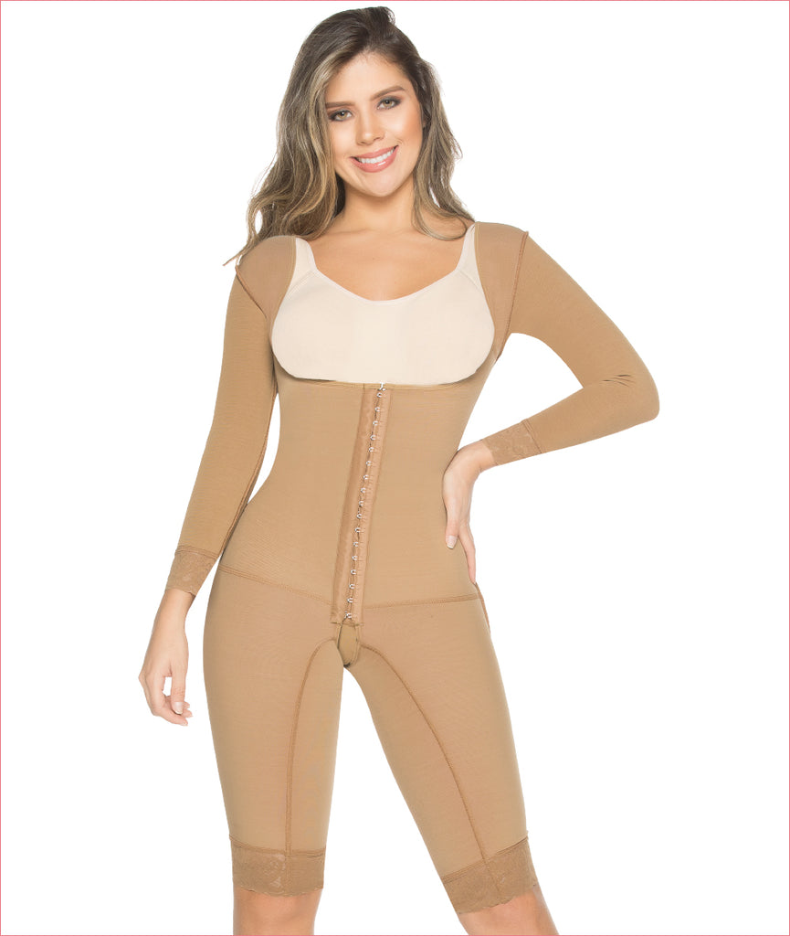 Post Op One piece girdle with sleeves - C9016