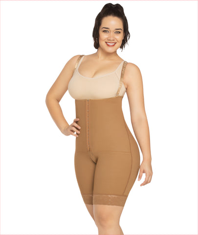 Firm compression girdle  Full leg Bodysuit - C4166