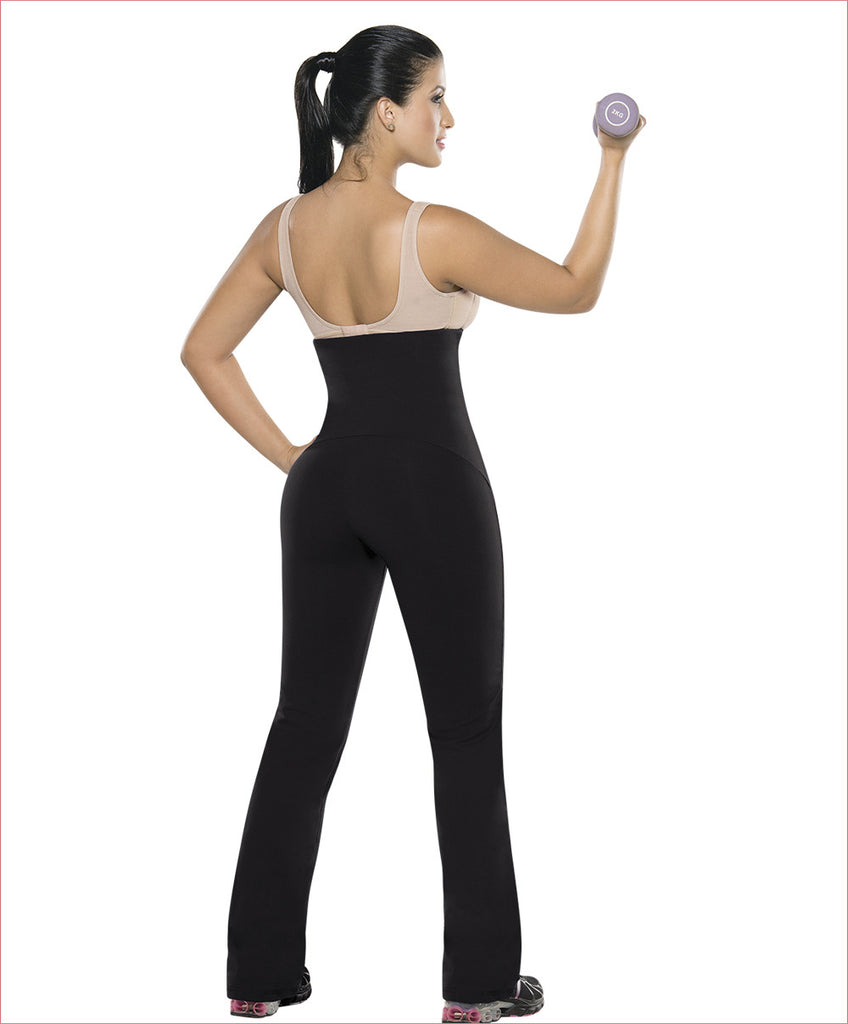 Sport pants plus waist trainer all in one - Straight leg style D6000