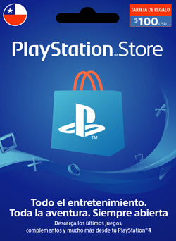 $100 USD PlayStation Gift Card PSN CHILE - Chilecodigos