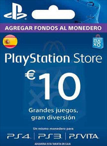 $10 EUR PlayStation Gift Card PSN ESPAÑA - Chilecodigos