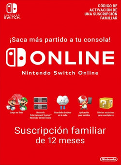 12 Meses Membresia Familiar Nintendo Online Gift Card CHILE