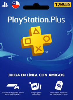 1 Año Membresia PSN Plus Gift Card CHILE - Chilecodigos