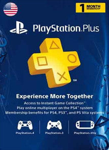 1 mes PlayStation Plus USA, MEMBRESÍA, PLAYSTATION - Chilecodigos
