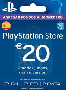 $20 Euros PlayStation Store ESPAÑA, GIFTCARDS, PLAYSTATION - Chilecodigos
