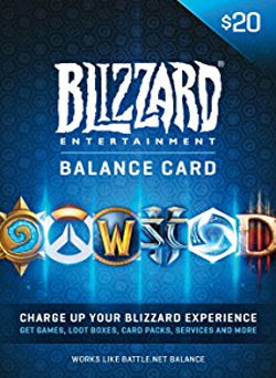 $20 USD Blizzard Battle.net Gift Card USA