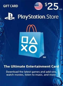 $25 USD PlayStation Gift Card PSN USA - Chilecodigos