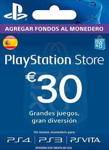 $30 Euros PlayStation Store ESPAÑA, GIFTCARDS, PLAYSTATION - Chilecodigos