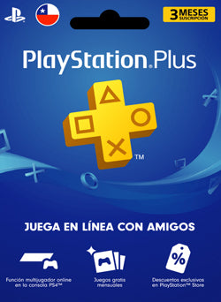 3 meses Membresia PSN Plus Gift Card CHILE - Chilecodigos