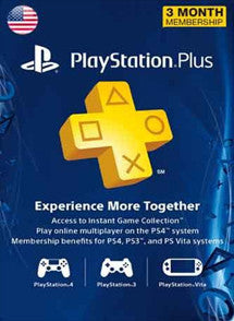 3 meses PlayStation Plus USA, MEMBRESÍA, PLAYSTATION - Chilecodigos