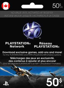 $50 CAD PlayStation Store CANADA, GIFTCARDS, PLAYSTATION - Chilecodigos