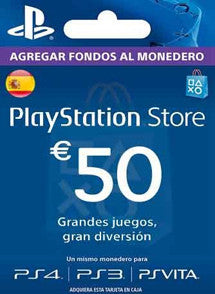 $50 Euros PlayStation Store ESPAÑA, GIFTCARDS, PLAYSTATION - Chilecodigos