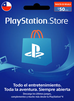 $50 USD PlayStation Gift Card PSN CHILE - Chilecodigos