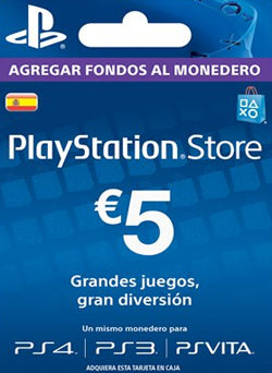 $5 EUR PlayStation Gift Card PSN ESPAÑA - Chilecodigos