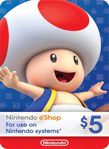 $5 USD Nintendo Eshop USA, E-SHOP, NINTENDO - Chilecodigos