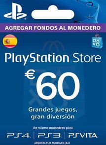 $60 EUR PlayStation Gift Card PSN ESPAÑA - Chilecodigos