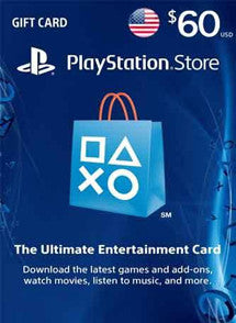 $60 USD PlayStation Gift Card PSN USA - Chilecodigos
