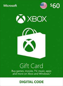 $60 USD Xbox Live Gift Card USA - Chilecodigos