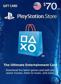 $70 USD PlayStation Gift Card PSN USA - Chilecodigos