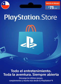 $75 USD PlayStation Gift Card PSN CHILE - Chilecodigos