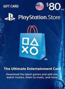 $80 USD PlayStation Gift Card PSN USA - Chilecodigos